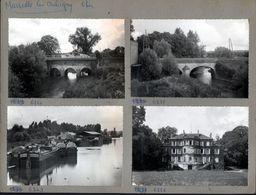 18, Maresille Les Aubigny, 4 Cpsm Montées Sur Carton De Presentation D'editeur De Cartes Postales. Peniches - Other Municipalities