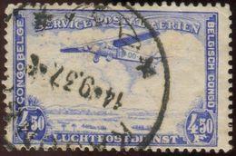 Pays : 131,1 (Congo Belge)  Yvert Et Tellier  N° :  PA 11 (o) - Airmail: Used