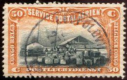 "Pays : 131,1 (Congo Belge)  Yvert Et Tellier  N° :  PA  1 (o)  Oblitération ""Leopoldville"" - Airmail: Used"