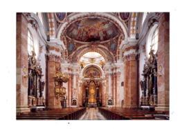 Carte Innsbruck Interieur Cathedrale Saint Jacob Cachet Avec Coquillage - Innsbruck