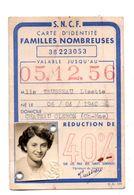 Saintes. Chateau Oleron. Carte S N C F Familles Nombreuses.1955. - Saintes