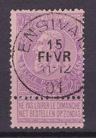 N° 66  Défauts ENSIVAL  COB 65.00 - 1893-1900 Schmaler Bart