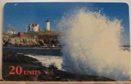 PR237 CARD PREPAGATA - GLOBALONE SPRINT - MAINE LIGHTHOUSE - 20 UNITS - SCADENZA  09/97  N° 1320926 - Vereinigte Staaten