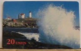 PR238 CARD PREPAGATA - GLOBALONE SPRINT - MAINE LIGHTHOUSE - 20 UNITS - SCADENZA  09/97  N° 1322608 - Vereinigte Staaten