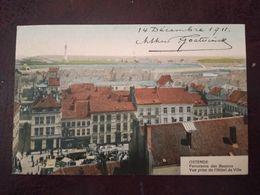Oostende Panorama Des Bassins Vue Prise De 'Hôtel De Ville 1911 - Oostende