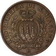 Monnaie, San Marino, 10 Centesimi, 1935, Rome, TTB, Bronze, KM:13 - San Marino
