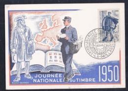 Carte Federale Journee Du Timbre 1950 Brive La Gaillarde - 1950-59