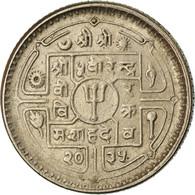 Monnaie, Népal, SHAH DYNASTY, Birendra Bir Bikram, 25 Paisa, 1978, TTB - Nepal