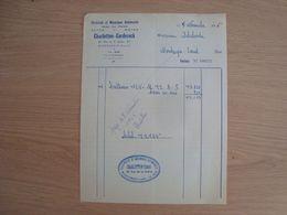 FACTURE CHARLOTTON DANIEL ELECTRICITE MECANIQUE AUTOMOBILE MONTARGIS 1956 - Automobilismo