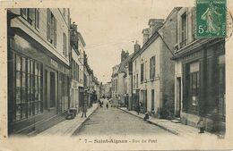Saint Aignan Rue Du Pont  Envoi Champigny En Beauce 41  Pliée . Decollée - Saint Aignan