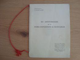 MENU XXe ANNIVERSAIRE DE LA FOIRE-EXPOSITION DE MONTARGIS 1953 - Menu