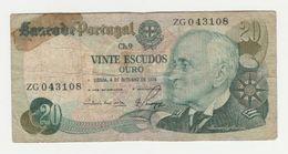 Banknote 20 Escudos Portugal Lisboa 1978 - Portugal