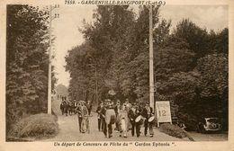 """Gargenville Rangiport * Un Dépar De Concours De Pêche Du """" GARDON EPÔNOIS """" * Pêcheurs à La Ligne * épône - Gargenville"""