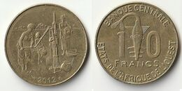 Pièce De 10 Francs CFA XOF 2012 Origine Côte D'Ivoire Afrique De L'Ouest - Côte-d'Ivoire