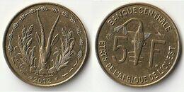 Pièce De 5 Francs CFA XOF 2012 Origine Côte D'Ivoire Afrique De L'Ouest - Côte-d'Ivoire