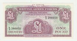Banknote British Armed Forces 1 Pound 4th Series 1962 UNC - Forze Armate Britanniche & Docuementi Speciali
