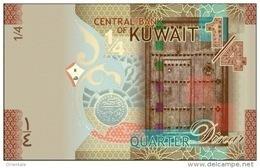 KUWAIT P. 29a 1/4 D 2014 UNC - Koeweit