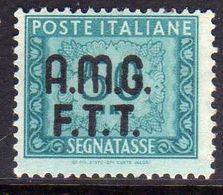 TRIESTE A 1947 1949 AMG-FTT SOPRASTAMPATO D'ITALIA ITALY OVERPRINTED SEGNATASSE POSTAGE DUE TAXES TASSE LIRE 50 MNH - Impuestos
