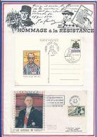 FRANCE - CARTE PADRE KOLBE OBLI PRIMO GIORNO FIRST DAY LIBERTAS + SAN MARINO 28.8.81 + ENV. DE GAULLE MONTREUIL 23.10.82 - De Gaulle (Général)