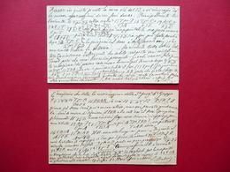 Autografo Serafino Dubois Scacchi 2 Cartoline Partita Mosse Cassoli Modena 1881 - Autografi