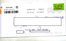 Lettre Flamme Chiffrée Double Indexation - Marcophilie (Lettres)