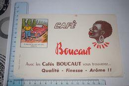 Buvard Café Boucaut Il Cherche En Vain Son Cric Aidez-le Epinal - Koffie En Thee