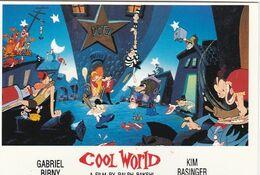 AFFICHE DE CINEMA Sur Carte Postale: COOL WORLD Avec Kim BASINGER - Manifesti Su Carta