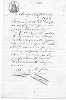 CG - Ricevuta Di Pagamento Dal Parroco Di Canonica Al Lambro  - Monza 4/2/1892 - Vecchi Documenti
