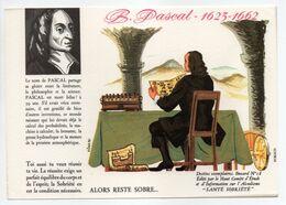 - BUVARD ALCOOLISME - SANTÉ SOBRIÉTÉ - PASCAL - 1623-1662 - Buvard N° 18 - - A