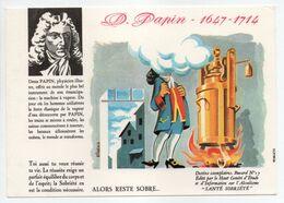 - BUVARD ALCOOLISME - SANTÉ SOBRIÉTÉ - Denis PAPIN - 1647-1714 - Buvard N° 17 - - A