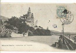 CPA ,Monaco , Monte Carlo ,Terrasse Du Casino Ed. Staerck , 1906 - Terrassen
