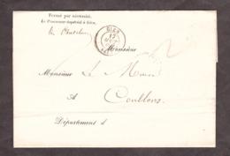 LAC - 17 Août 1866 - Gien Pour Coullons (Loiret) - Verso : Coullons T22 X 2 - Procureur Impérial - 1849-1876: Période Classique