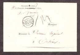 LSC - 14 Juin1853 - Gien Pour Orléans - Procureur Impérial - 1849-1876: Période Classique