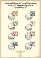 Mot039a / Olympiade 1936 - Schmuckblatt Mit Satz Und Sonderstempel KIEL - Segelregatta. Nicht Gefaltet SELTEN - Sommer 1936: Berlin
