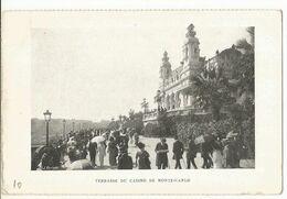 CPA ,Monaco , Terrasse Du Casino De Monte Carlo  Ed. J. Enriatti - Terrassen