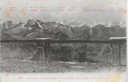 Vue Prise De L'Observatoire Du Pic Du Midi Sur La Chaine Centrale - Bagneres De Bigorre