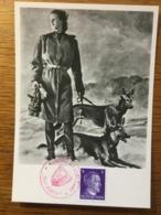 """III. Reich, Propaganda  Karte, """" Mädchen Mit Hunden """" Haus Der Deutschen Kunst - Weltkrieg 1939-45"""