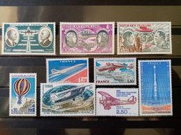 FRANCE.1971 à 1980. Poste Aérienne N° 45 à 53. 9 Timbres NEUFS++ Côte Yvert 22,20 € - 1960-.... Nuevos