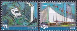 UNO-New York, 2011,  1242/43,  MNH **,  Freimarken: UNO-Gebäude. - Unused Stamps