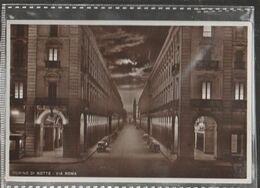 TORINO VIA ROMA   .-panorama-viaggiata-SI-1938-fp-mt.6203 - Bars, Hotels & Restaurants