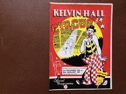 PROGRAMME CIRQUE   Kelvin Hall CIRCUS   Royaume-Uni  SEASON 1956-1957 - Programmi