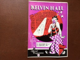 PROGRAMME CIRQUE   Kelvin Hall CIRCUS  Royaume-Uni  SEASON 1957-1958 - Programmi