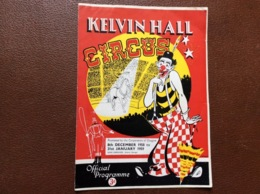 PROGRAMME CIRQUE   Kelvin Hall CIRCUS  Rouaume-Uni  SEASON 1958-1959 - Programmi