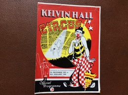 PROGRAMME CIRQUE   Kelvin Hall CIRCUS  Royaume-Uni  SEASON 1959-1960 - Programmi
