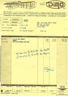 Facture 1989 / 25 BESANCON / DIMO / Fabrique Se Porte-clés, Objets Publicitaires - France