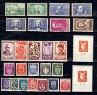 France Belle Petite Collection De Bonnes Valeurs Neufs ** MNH 1935/1949. TB. A Saisir! - France