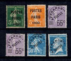 France Préoblitérés YT N° 26, N° 30, N° 47 (2), N° 60 Et N° 68 Oblitérés. B/TB. A Saisir! - 1893-1947
