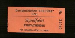 Biglietto Autobus Germania - Koln - Colonia ( Germania ) - Bus