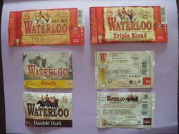 Lot Etiquettes Bière WATERLOO - Bière