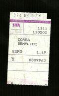 Biglietto Autobus Italia - SITA Campania - Corsa Semplice Da Euro 1.19 - Bus